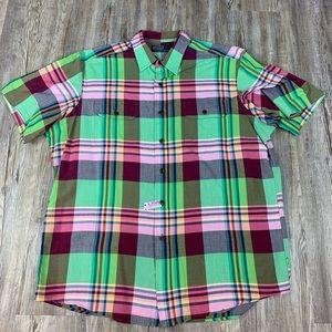 Polo Ralph Lauren Green Plaid Burton Dress Shirt